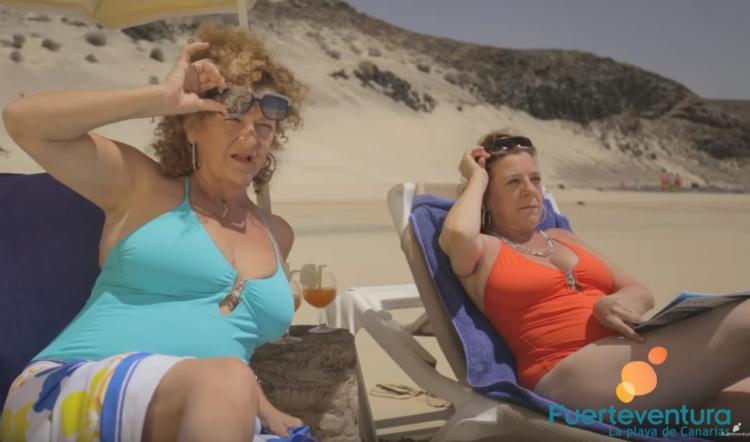 Fotograma del spot del Patronato de Turismo de Fuerteventura para captar turismo en la campaña de verano de 2017