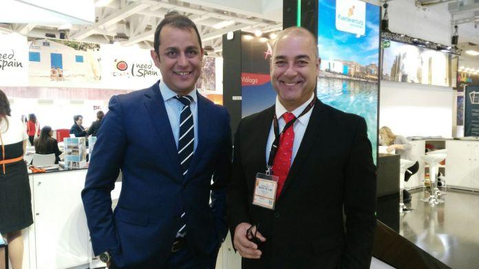 Blas Acosta y Moisés Jorge en la Feria ITB 2017