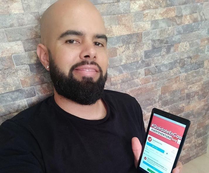 Althay Páez es un lector habitual de Fuerteventura Hoy