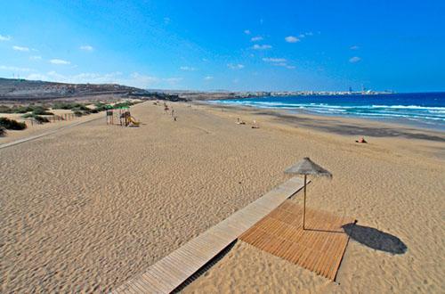 Imagen de archivo de Playa Blanca en el municipio de Puerto del Rosario
