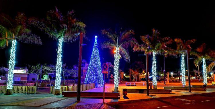 Iluminacion de Navidad en Caleta de Fuste (Archivo)