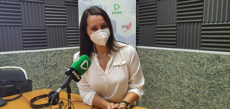 Sonia Álamo en los estudios de Radio Insular el pasado 17 de febrero