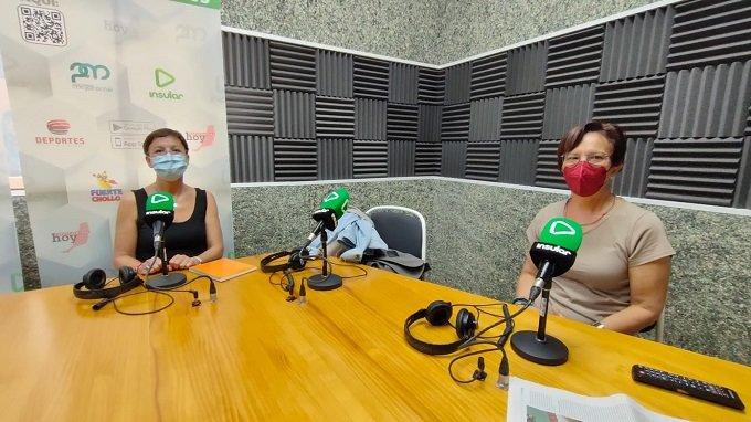 Elena Felipe y Teresa Cabrera