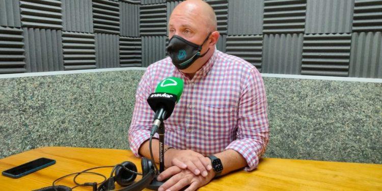 Sergio Lloret en Radio Insular