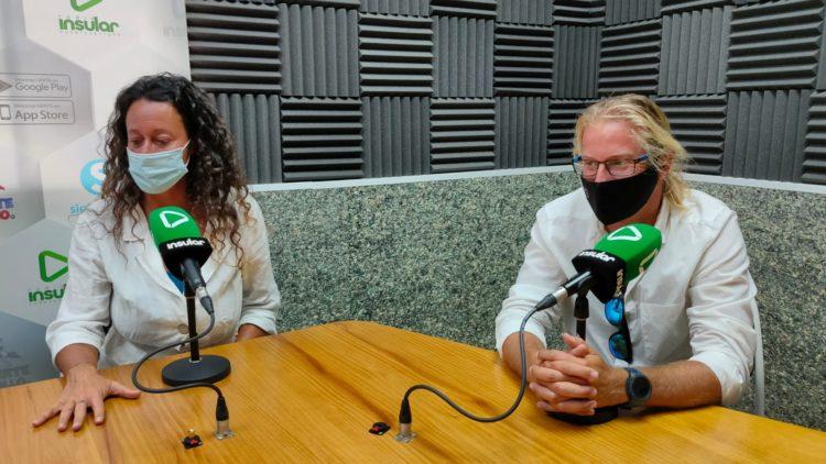 De Bartolomeis y Pligiese, Parkinson No Limits, en Radio Insular
